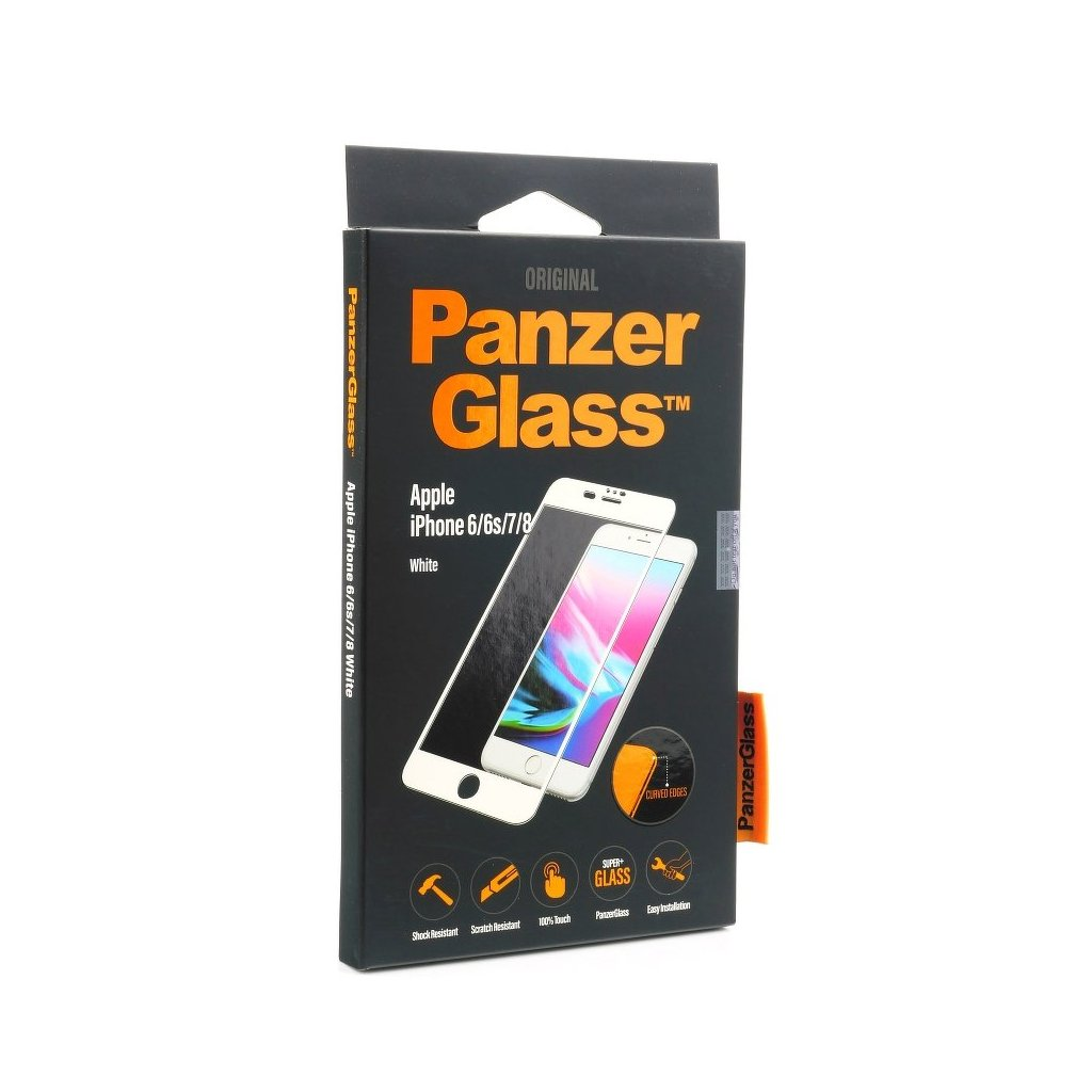 113582 tvrzene sklo panzerglass apple iphone 7 8 white curved
