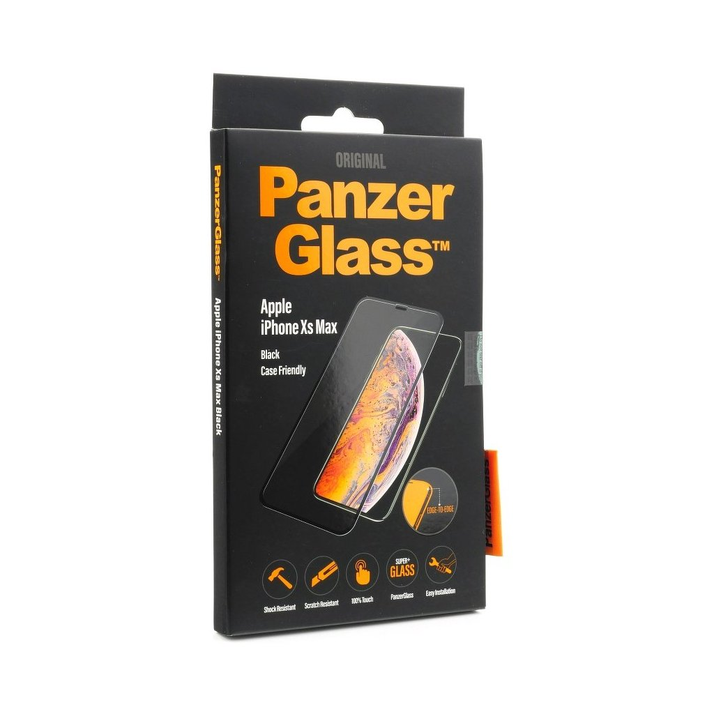 113564 tvrzene sklo panzerglass apple iphone xs max black edge to edge cs