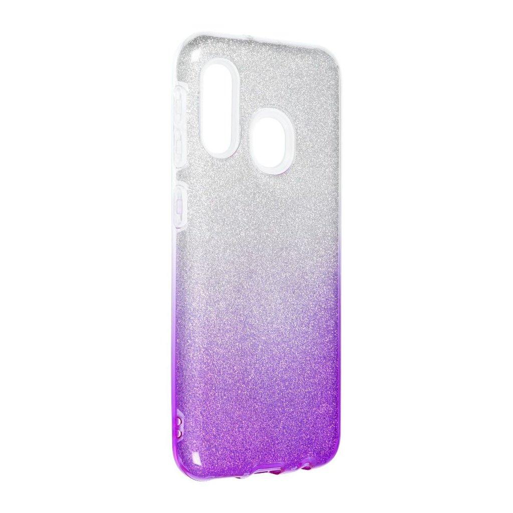 128054 1 pouzdro forcell shining samsung galaxy a20e transparentni fialove