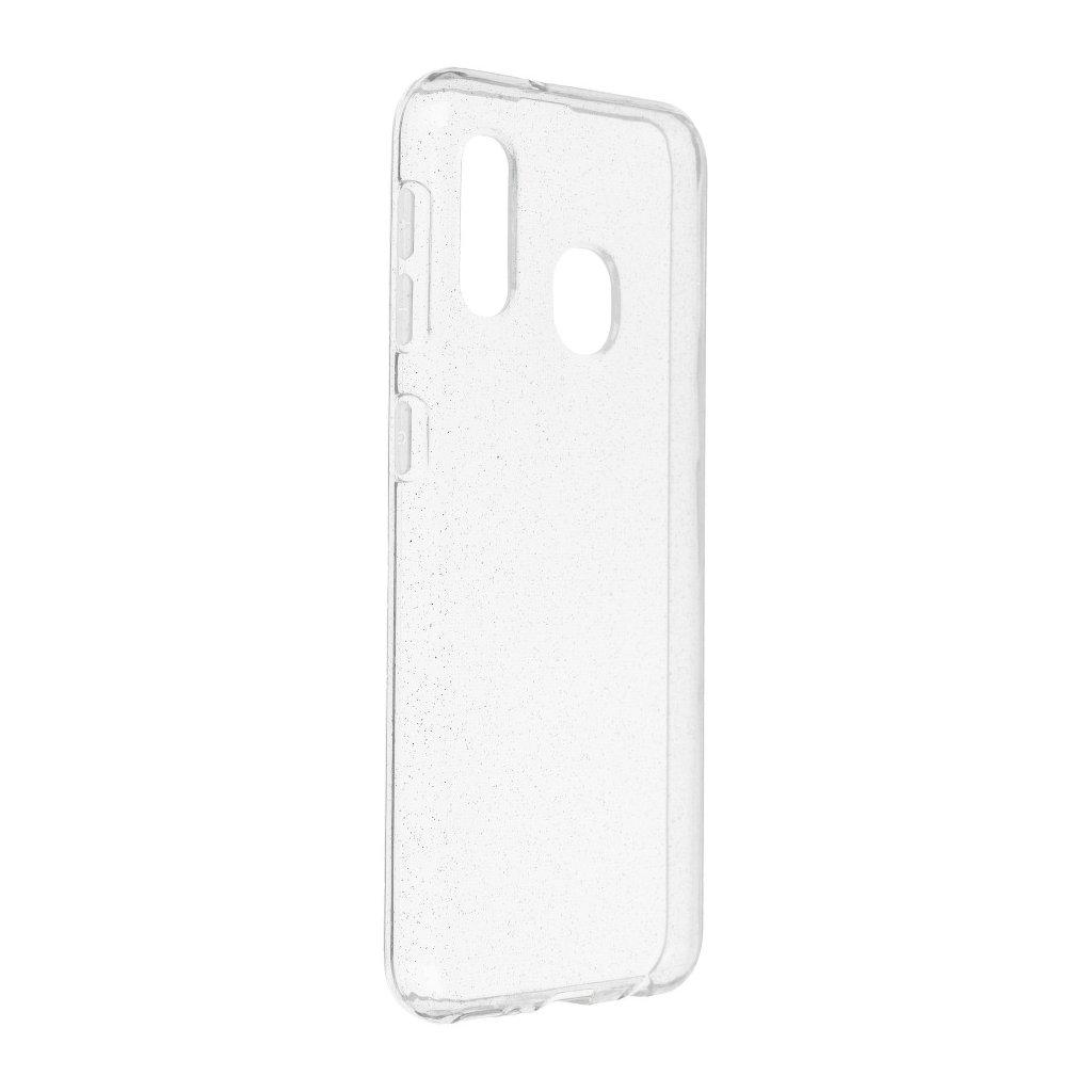 136013 pouzdro back case ultra slim 0 5 mm glitter samsung galaxy a20e transparentni