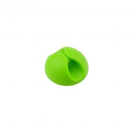 81421 3 drzak kabelu clipper usporadani kabelu usb zeleny
