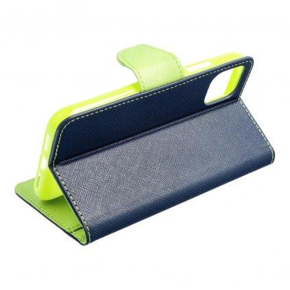24586 1 fancy pouzdro book apple iphone 5 5s modre limetkove