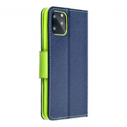 24586 fancy pouzdro book apple iphone 5 5s modre limetkove