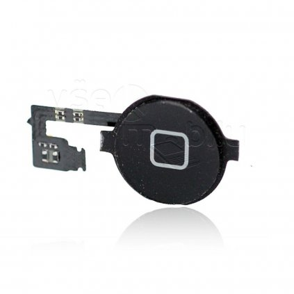 flex kabel tlacitka home pro iphone 4s tlacitko black cerne w1200 cfff