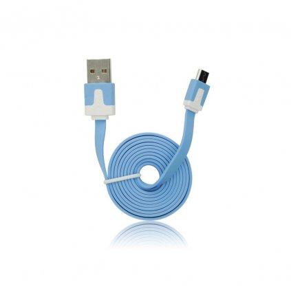 Forcell Datový kabel plochý micro USB, modrý