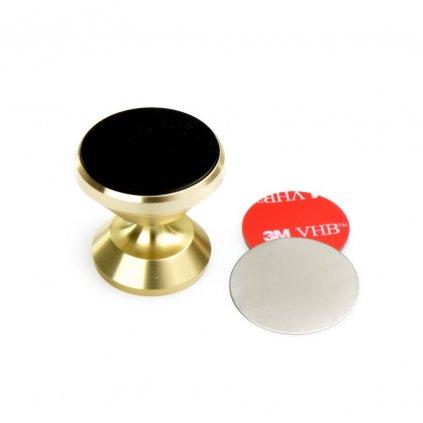 82029 4 magneticky univerzalni drzak mobilu do auta c1557a zlaty