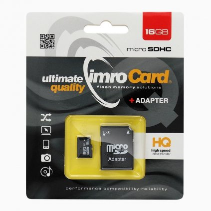 83196 1 pametova karta imro microsd 16gb adapter sd