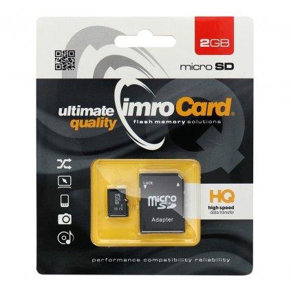 12079 2 pametova karta imro microsd 2 gb adapter sd blister