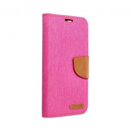 104334 1 pouzdro canvas book apple iphone xs plus 6 5 ruzove