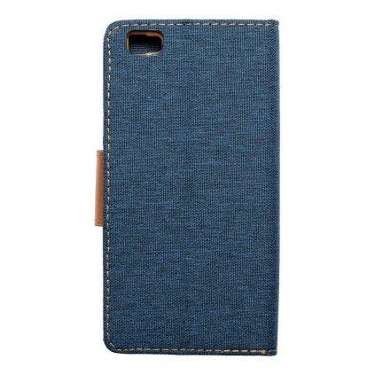 22276 1 pouzdro canvas mercury book huawei p8 lite tmave modre