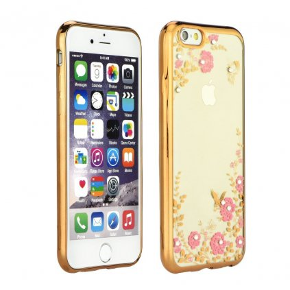 66915 pouzdro forcell diamond case apple iphone 5 5s se zlate