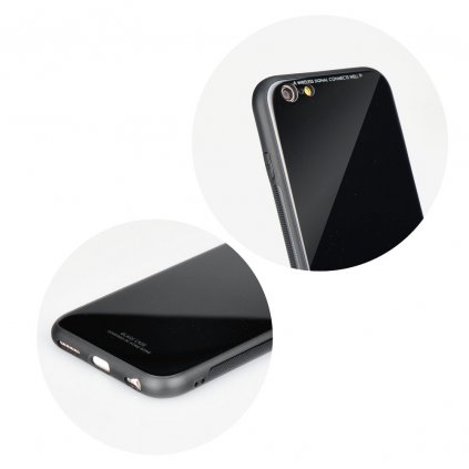 89337 pouzdro forcell glass apple iphone 5 5s se cerne