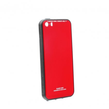 89343 pouzdro forcell glass apple iphone 5 5s se cervene