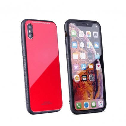 89349 4 pouzdro forcell glass apple iphone 7 8 cervene