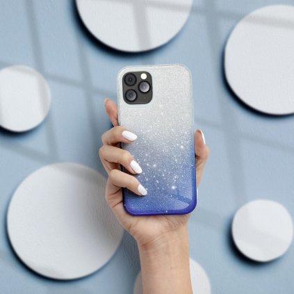 103365 pouzdro forcell shining apple iphone xs 5 8 transparentni modre