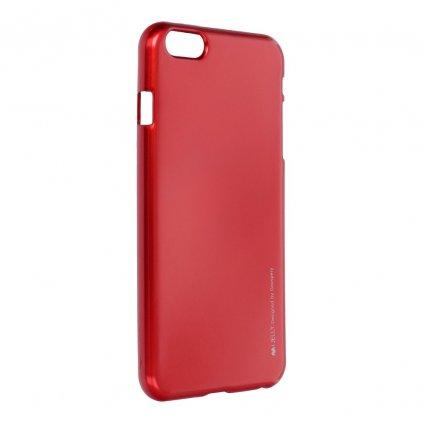 36846 2 pouzdro i jelly mercury goospery pro apple iphone 6 6s plus cervene