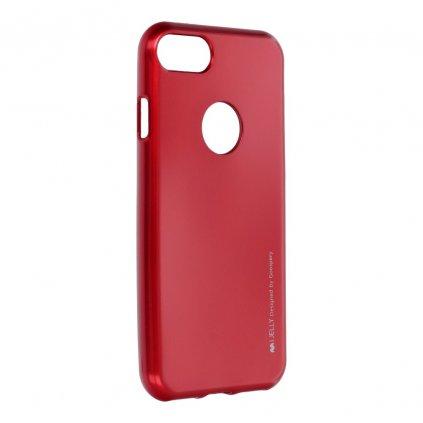 50378 pouzdro i jelly mercury goospery pro apple iphone 7 cervene s vyrezem na logo