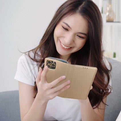 27556 2 pouzdro smart case book apple iphone 5 5s 5se zlate