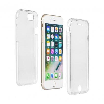 77841 2 silikonove pouzdro 360 full body predni zadni apple iphone x transparent