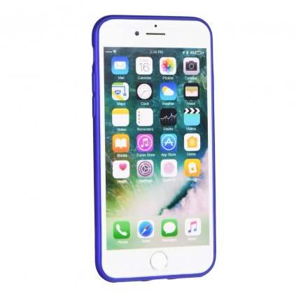 68219 2 silikonove pouzdro jelly case flash mat pro apple iphone 8 modre