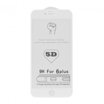 73343 tvrzene sklo 5d full glue roar glass apple iphone 7 8 plus bile
