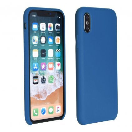103602 pouzdro forcell soft touch silicone apple iphone xs 5 8 modre