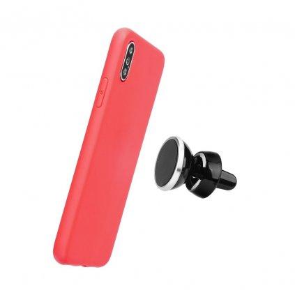 106139 1 pouzdro forcell soft magnet apple iphone 5 5s se cervene