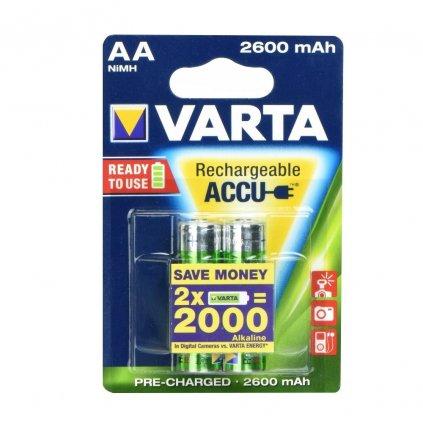 86499 varta nabijeci baterie r6 aa 2600 mah 2 ks