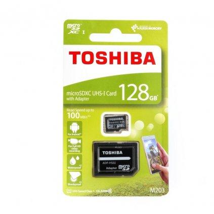 107681 toshiba pametova karta microsdhc 128gb class 10 uhs i u1 100mb s vc adapteru sd