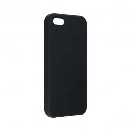 107609 2 pouzdro forcell soft touch silicone apple iphone 5 5s 5 se cerne