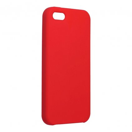 107642 2 pouzdro forcell soft touch silicone apple iphone 5 5s 5 se cervene