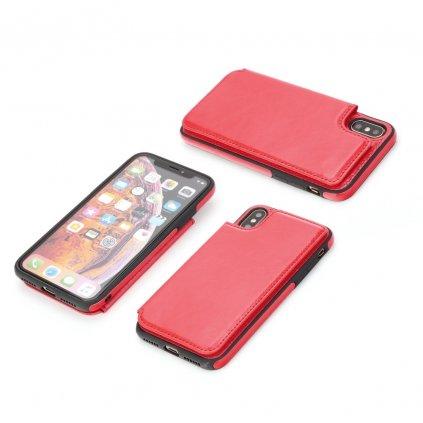 108473 1 pouzdro forcell wallet case apple iphone 7 8 cervene