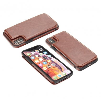 108527 1 pouzdro forcell wallet case apple iphone 7 8 hnede