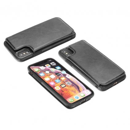 108593 1 pouzdro forcell wallet case apple iphone xs max 6 5 cerne