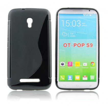 12262 1 pouzdro back case lux alcatel one touch pop s9 4035x cerne vzor s