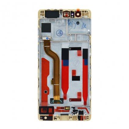 Huawei P9 LCD Displej + Dotyková Deska + Přední Kryt zlatá