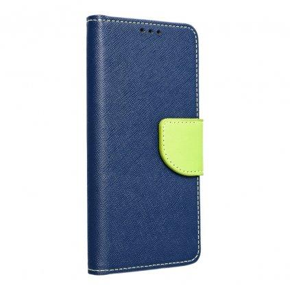 110918 pouzdro typu kniha fancy huawei p smart 2019 navy blue limonka