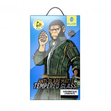 109682 2 tvrzene sklo 5d mr monkey glass apple iphone x xs cerne strong matte
