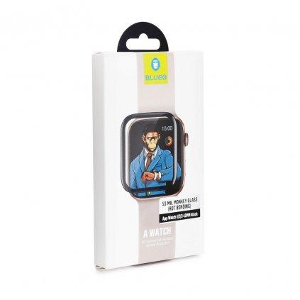 109679 1 tvrzene sklo 5d mr monkey glass apple watch 1 2 3 38mm cerne hot bending