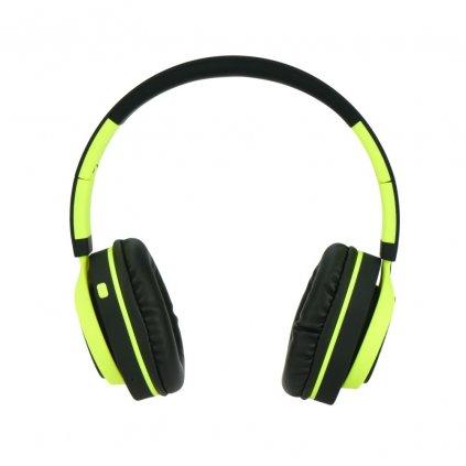 86553 3 stereo bluetooth sluchatka s mikrofonem ap b04 cerne limonka
