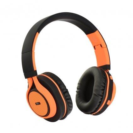 86592 stereo bluetooth sluchatka s mikrofonem ap b04 cerno oranzove