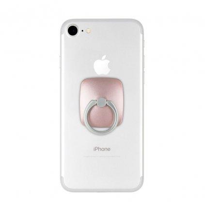 112745 stojan na mobil drzak na prst mercury wow ring zlaty ruzovy