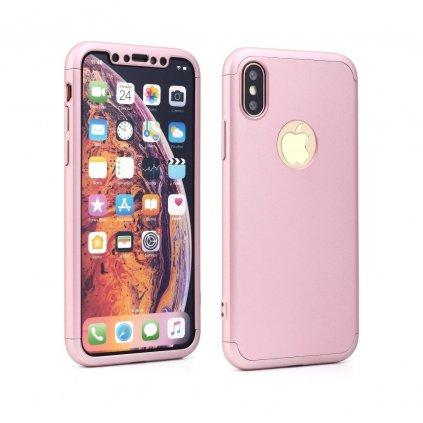 117923 originalni obal gkk 360 full protection apple iphone xs max ruzovo zlaty