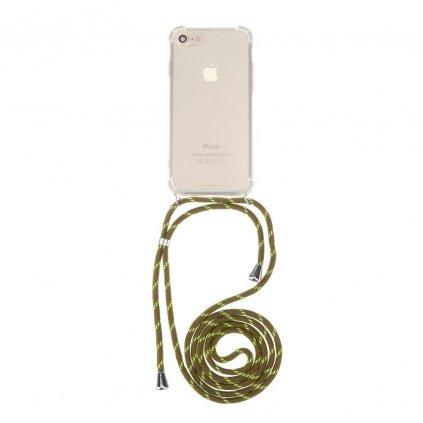 131438 1 pouzdro forcell cord xiaomi redmi 6a transparentni zelena snurka