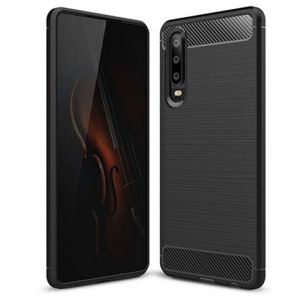 110861 3 pouzdro forcell carbon huawei p30 cerne