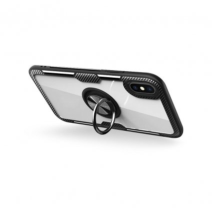 148622 3 pouzdro forcell carbon clear ring iphone 11 pro max cerne
