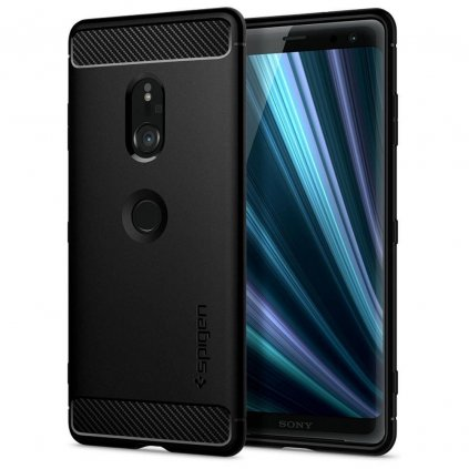 125477 spigen rugged armor sony xperia 1 cerne