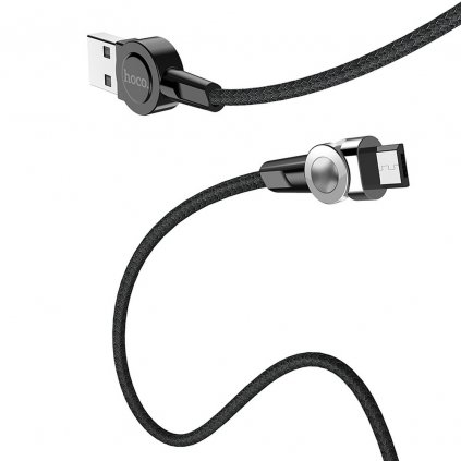 151997 hoco selected kabel usb magneticky micro usb s8 cerny