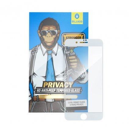 142874 tvrzene sklo 5d mr monkey glass apple iphone 7 8 plus bile strong privacy