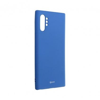 134123 3 pouzdro roar colorful jelly case samsung galaxy note 10 plus navy blue